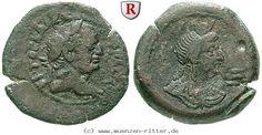 RITTER Ägypten, Alexandria, Vespasianus, Hemidrachme, Isis #coins