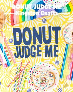 Easy National Doughnut Day Decorations - The Kingston Home How To Make Confetti, Fine Point Pens, Instagram Party, Donut Party, Diy Letters, Paper Source, Basic Shapes, Diy Party Decorations, Party Shop