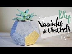 Decoração de fim de semana: aprenda a fazer vasinhos de cimento – Consumo Social