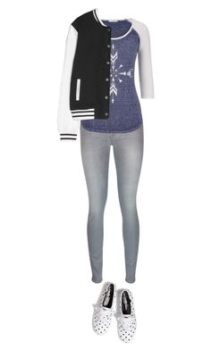 """""""Going to the big game!"""" by f3arl3ssprinc3ss ❤ liked on Polyvore featuring 7 For All Mankind, maurices, Keds and MANGO"""