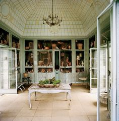 The Greenhouse In Garden Of Bunny Mellon S Oak Spring Estate Upperville Virginia Which Features Trompe L Oeil Murals By Fernand Renard