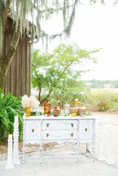 Boldly Colourful and Full of Clever DIYs: Aly & Erik Wedding Reception Decorations, Wedding Table, Our Wedding, Wedding Venues, Table Decorations, Table Plans, Wedding Colors, Painted Glass Bottles, Boone Hall