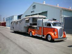 My dear Lord, my husband CAN NOT see this or he will surely want to find one to pull whatever vintage trailer I decide on...  life with a trucker man...