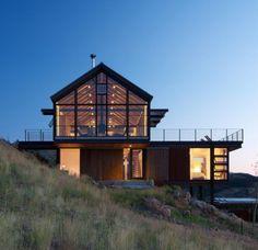 Ce chalet se trouve dans les montagnes du Colorado aux Etats Unis. C'est l'architecte Renée del Gaudio qui a entièrement dessiné cette maison en respectant