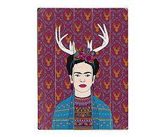Cuadro en madera de abedul Deer Frida - 35,6x50,8 cm