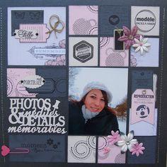 page scrapbooking corsaires Album Photo Scrapbooking, Scrapbook Sketches, Scrapbook Page Layouts, Scrapbook Albums, Reproduction Photo, Project Life Layouts, Vintage Scrapbook, Stamping Up, Projects To Try