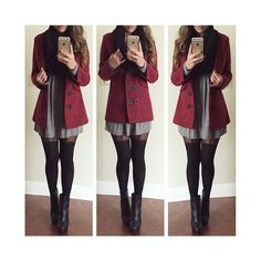 Winter x OOTD We Heart It ❤ liked on Polyvore featuring accessories, outfits and dresses