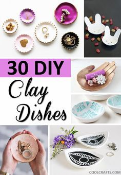 30 Decorative Clay Dishes You Can Make Yourself 2019 Love making clay dishes? Here are 30 different DIY projects you can try to create yourself. The post 30 Decorative Clay Dishes You Can Make Yourself 2019 appeared first on Jewelry Diy. Diy Fimo, Diy Clay, Crafts To Sell, Diy And Crafts, Decor Crafts, Clay Crafts For Kids, Simple Crafts, Sell Diy, Felt Crafts