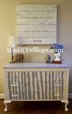 tree inspired DIY dresser. Love this!