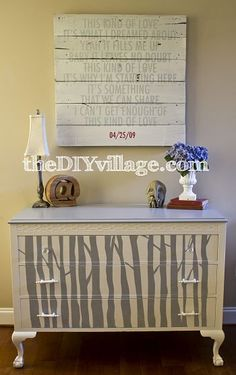 tree inspired DIY dresser. Love this!