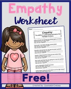 A worksheet to help students learn what empathy is and how they can display empathy in various situations. Please remember to leave feedback and check out my other products you're sure to love! ---> How Anger Social Skills Lessons, Social Skills Activities, Teaching Social Skills, Counseling Activities, Social Emotional Learning, Student Learning, Therapy Activities, Respect Activities, Articulation Activities