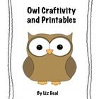 FREE. Perfect supplement for your owl unit. Includes* Owl Craftivity with templates* Owl story map* Writing template* Owl Talk (can, have, need)...