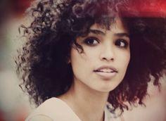 Love this natural look @ biracial & mixed hair