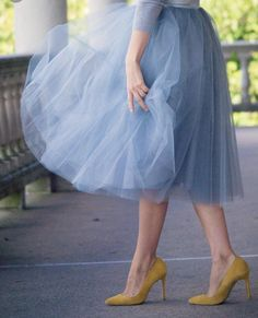 hpme decor Dusty slate blue tulle skirt Where To Find Cheap Wedding White Tulle Skirt, Tulle Dress, Dress Skirt, Dress Up, Tulle Skirts, Midi Skirt, Girly Outfits, Dance Outfits, Classy Outfits