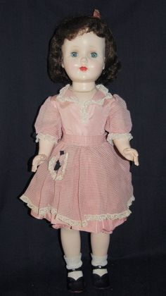 "Pretty in Pink 24"" Hard Plastic American Character Sweet Sue Walker 1953"