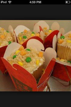 Chinese cupcake so cute