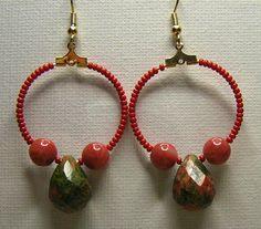 Unakite Drop Earrings
