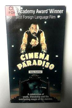 Cinema Paradiso Drama VHS 1988 English Sub Giuseppe Tornatore Philippe Noiret ✨
