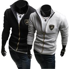 Lamborghini Logo Embroidery Zipper Cardigan Jacket