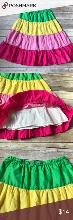 Gymboree Girls size 8 Gymboree colorblock skirt. Bright and cheery colors.  100% cotton. No stains or flaws. Gymboree Bottoms Skirts