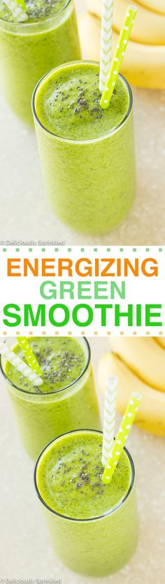 Energizing Green Smoothie- easy to make, taste delicious and GIVES YOU ENERGY throughout the day!