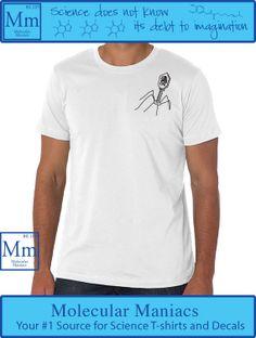 Virus Upper Left Corner Shirt by MolecularManiacs on Etsy, $18.00 // #nerdfashion #chemistry #scienceshirts