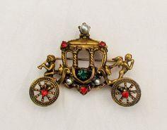 vintage-coro-coach-pin-1940s-coro-brooch