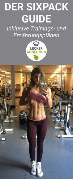 To get a six-pack, training and nutrition have to be optimized. Here you will find a free training plan, a free nutrition plan and many helpful tips for abdominal muscle training. The complete guide shows you exactly what to look for as a woman or man. Fitness Workouts, Gewichtsverlust Motivation, Six Pack Challenge, Motivational Frases, Fitness Tips For Women, Ga In, Training Plan, Free Training, Training Videos