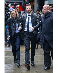 GQ.com: Chris Evans in NYCReally cool thing to do, right this very moment: dress down a shirt and tie with a basic leather bomber. We're going to miss you, kid..