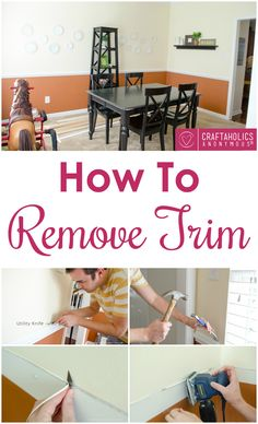 How to remove trim (The easiest DIY Ever!) | Craftaholics Anonymous ®