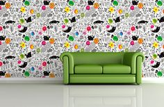 The Wallery. We design art wallpaper murals and vinyls that make the frame obsolete. - amaia arrazola illustration