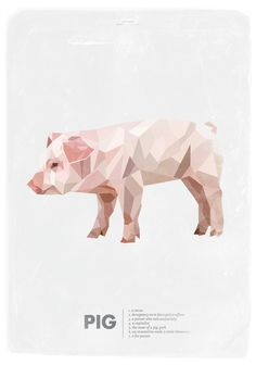 Animal Slang - Pig Art Print
