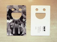 Designed for personal use. With die-cut of my initial on it, the namecard becomes a smiling character itself.