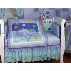 Rainbow Fish Crib Bedding Set Rainbow Fish Baby Shower
