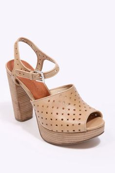 Deena & Ozzy Nude Cut-Out Leather Shoes (Urban Outfitters)
