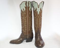 boots Custom Cowboy Boots, Cowgirl Boots, Western Boots, Buckaroo Boots, Cowboy Art, Cool Boots, Dress With Boots, Leather Boots, Westerns