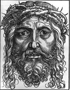 Image: Albrecht Dürer - The Cloth of Veronica / Dürer  Story is about St Veronica, given a cloth with the suffering face of Christ, which had healing properties. It became a key icon in the West.  http://en.wikipedia.org/wiki/Veil_of_Veronica