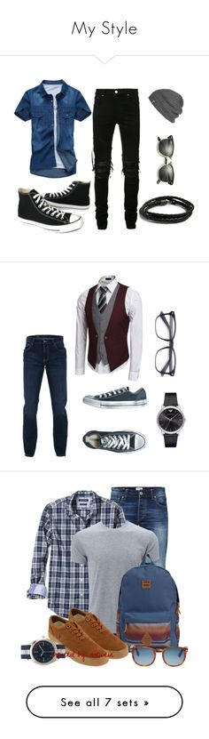 """""""My Style"""" by fathertundra72 ❤ liked on Polyvore featuring MIANSAI, AMIRI, Converse, Outdoor Research, Ray-Ban, men's fashion, menswear, Trussardi, Emporio Armani and Jack & Jones"""
