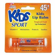 I'm learning all about Kids Sport by Baby Blanket Tropical Fruit Lip Balm SPF 45  at @Influenster!