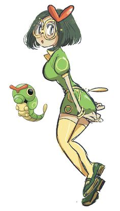 Caterpie-Butterfree humanizado ver.