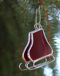 Stained Glass Ornament or Suncatcher Pair of by CreationsbyPammy, $12.00