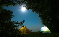 Preview wallpaper tents, camping, trees
