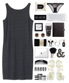 """""""black & white"""" by bojanadirectioner ❤ liked on Polyvore featuring Toast, ASOS, L'Agent By Agent Provocateur, H&M, Könitz, Falke, PhunkeeTree, Sally Hansen, Boohoo and NARS Cosmetics"""