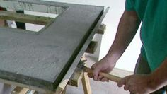 How to Build a Concrete Countertop | DIY Kitchen Design Ideas - Kitchen Cabinets, Islands, Backsplashes | DIY