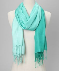Take a look at this Emerald & Mint Ombré Scarf by In Things on #zulily today!