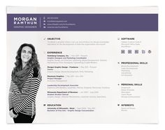 love this landscape resume format great stuff resume design