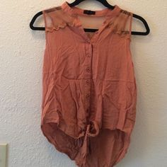 Super cute tank top from the boutique Mine! Worn once super cute! American Apparel Tops Tank Tops