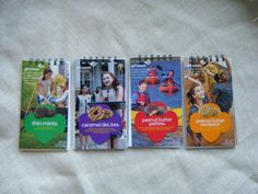 Hey, I found this really awesome Etsy listing at https://www.etsy.com/listing/185964426/girl-scout-cookie-box-notebooks-bind-it