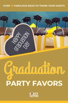When guests go to a grad party they are letting the graduate know they care and wishing them the best in their new adventures. Usually, they also give a generous gift! So, as the guests leave your event, be sure to send them on their way with a favor to show your appreciation for their effort to celebrate with you! No matter what type of favor you are looking for, or what kind of budget you have we have awesome graduation party ideas for favors! #graduationpartyideas #graduationparty…