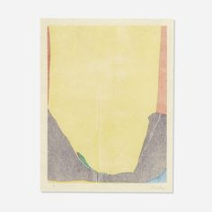 Lot 106: Helen Frankenthaler 1928–2011. East and Beyond. 1973, woodcut on buff laminated Nepalese handmade paper. 23½ h x 17¾ w in. estimate: $7,000–9,000. Sheet measures: 31.75 h x 21.5 w in Signed, dated and numbered to lower margin 'Frankenthaler 3/18 73'. This work is from the edition of 18 published by Universal Limited Art Editions, New York. Provenance: Private Collection, Dallas